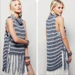 Free People Folksong fringe sweater vest